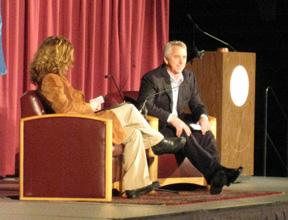 Greg LeMond with San Francisco Chronicle columnist Gwen Knapp