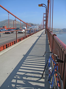 All quiet on the Golden Gate Bridge - Tuesday, 9 a.m.