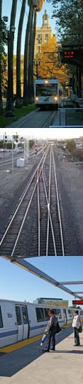 Light rail San Jose, Santa Clara station, BART
