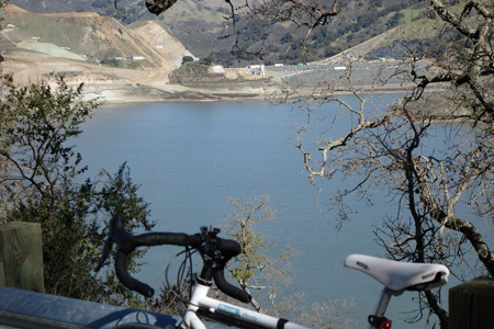 Dam building continues at Calaveras Reservoir just up the road from the new Irvington Hetch Hetchy tunnel.