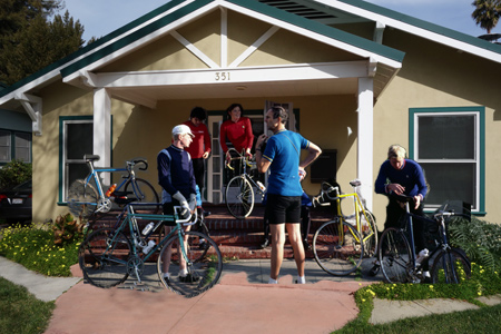 If only it were true. Jobst Riders prepare to head out on a Sunday ride.