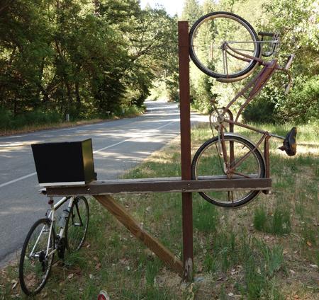 I'm not sure what it all means, but I still prefer bike art over modern art.
