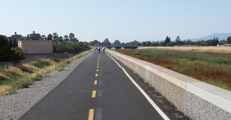 Guadalupe River Trail near Hwy 237 is newly paved.