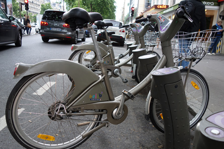 Typical rental bike in Paris. They're a similar style in London.