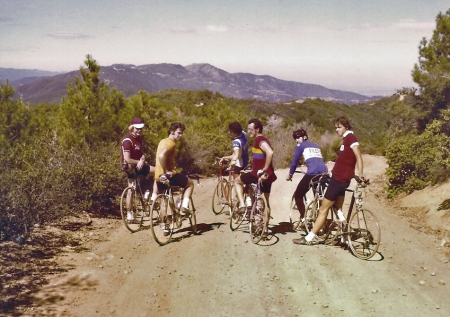 Jobst and riders on Loma Prieta Road circa 1974.