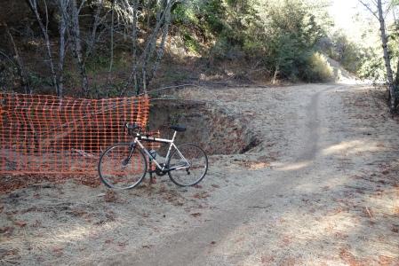 Upper Alpine Road (dirt) has been repaired.
