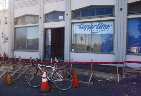 Cupertino Bike Shop's new home on Stevens Canyon Road at McClellan, opening soon.