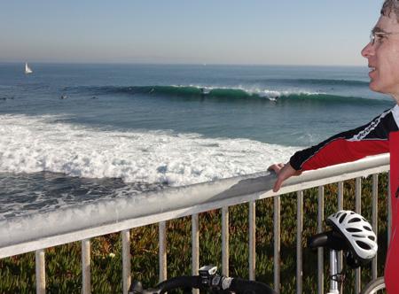 Excellent surf in Santa Cruz on Saturday.