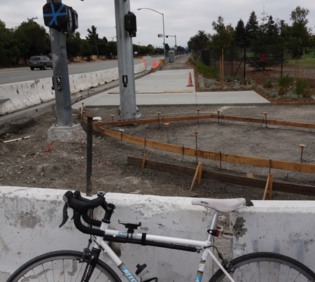 San Tomas Aquino Creek  Trail reach 4 (part one) will open in a couple of weeks.
