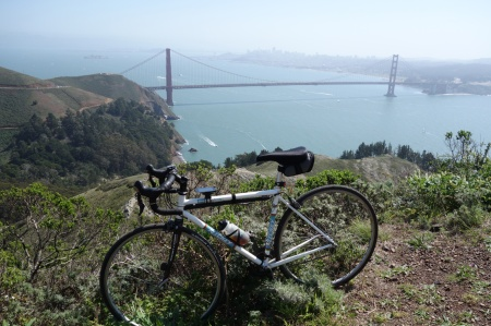 Golden Gate Bridge from the Marin Headlands. Nice day for riding.