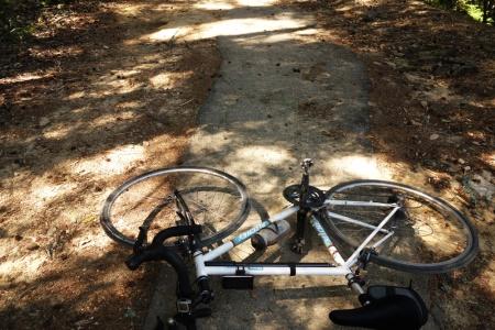 Pavement on upper Gazos Creek Road. Still a rough ride on a road bike.