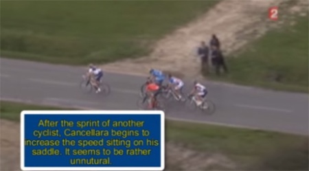 Video footage of Fabian Cancellara at the Tour of Flanders.