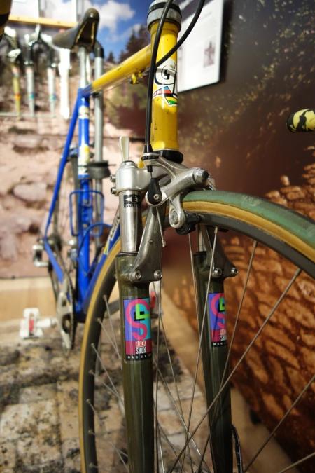 Original RockShox suspension used in the Paris-Roubaix