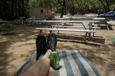 Enjoying a nice day in the Santa Cruz Mountains.