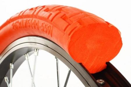 Tannus solid tires eliminate flats. (Tannus photo)