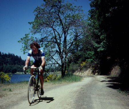 Riding my Colnago the day of the arrest at McKenzie Reservoir.