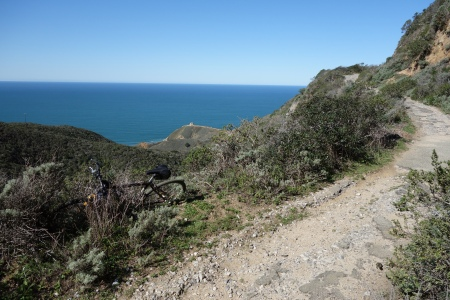Old Pedro Mountain Road overlooks the Pacific between Montara and Pacifica.