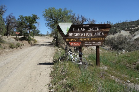Clear Creek Road cuts through BLM land in San Benito County.