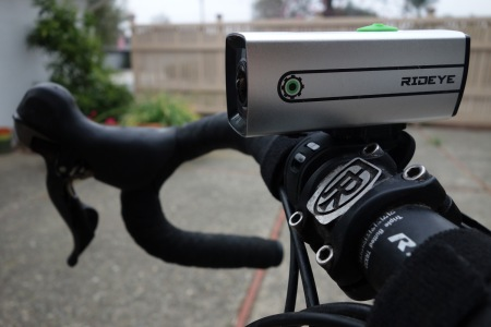 Rideye fits easily on a handlebar or seatpost.