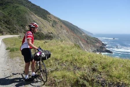Bob Walmsley enjoys the view on the Pacific Coast.