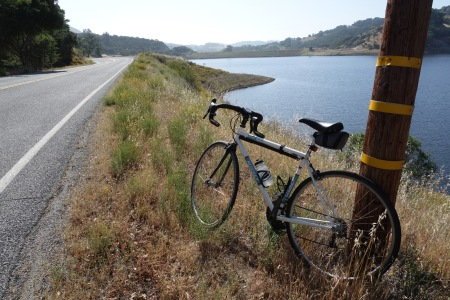 Chesbro Reservoir in the South Bay is slightly less than half full.