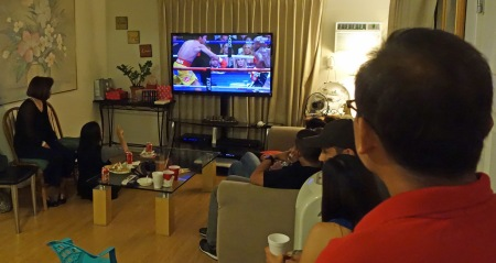 Fans of Pacquiao gathered around the world to watch the boxing spectacle.