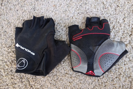 Endura Hyperon glove wears well, but be careful with the size.