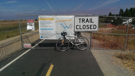 Guadalupe River Trail between Tasman Drive and Gold Street is closed until November.