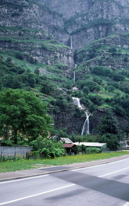 Biasca waterfall.