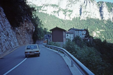 Road to Boano in the Dolomites.