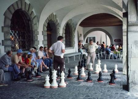 Chess game in Luzern.