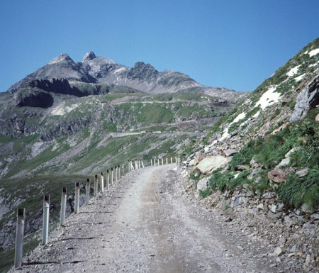 Gavia Pass near summit.