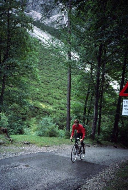 Gnadenwald climb outside Hall Tirol.
