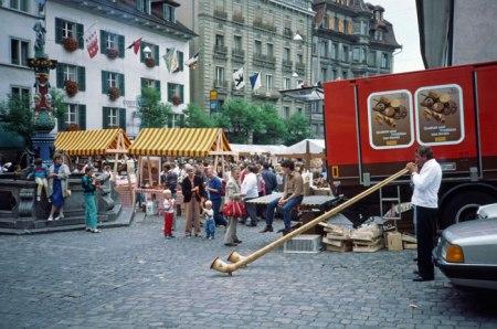 Swiss horn in Luzern.