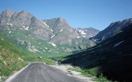 Iseran Pass climb, steep.