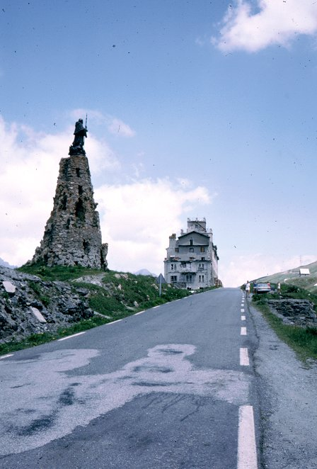 Petit St. Bernard Pass summit.