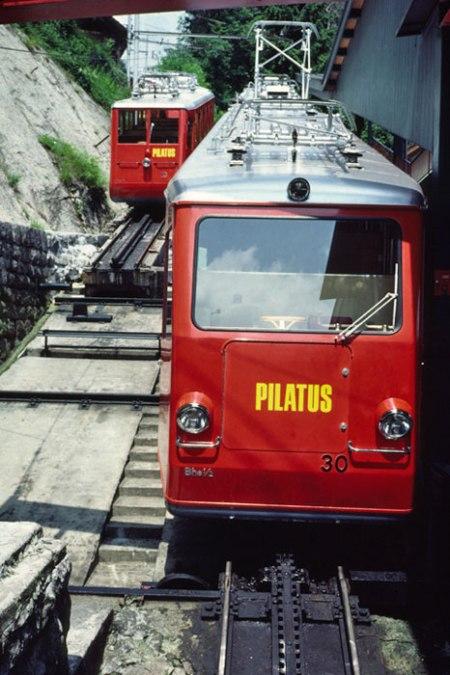 Pilatus cog train.