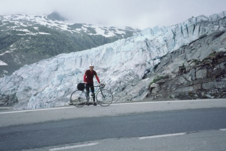 Rhone Glacier on Furka Pass.