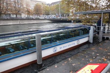 You can even take riverboats in Zurich. They thought of everything.