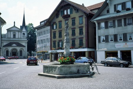 Sarnen main square.