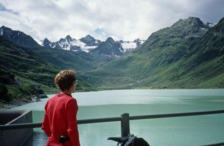 Lake at Silvrette Pass summit.