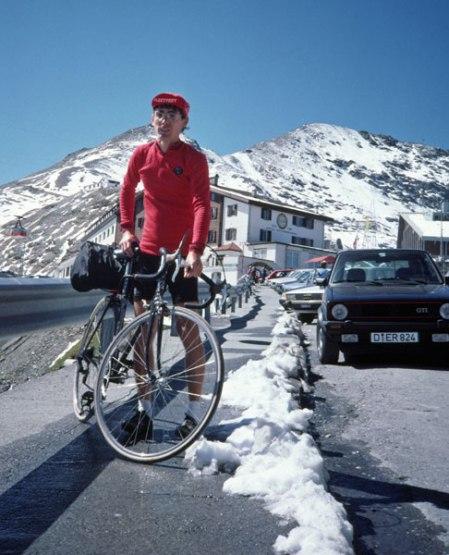 Stelvio Pass summit.