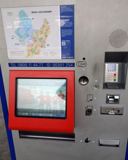 Ticket machines are everywhere and take all manner of payment.
