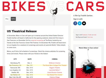 Bikes vs. Cars is coming to the Bay Area in December.