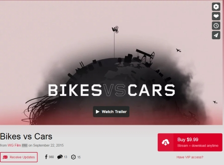 Bikes vs. Cars is available on Vimeo.