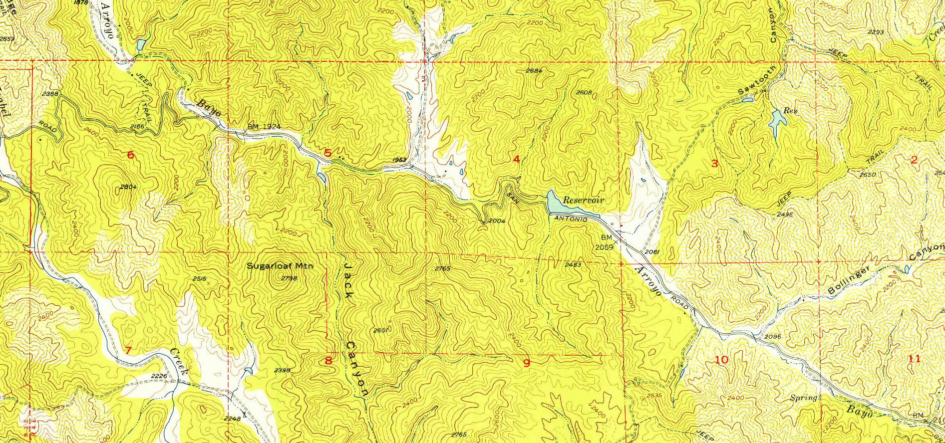 USGS topo map from 1955.