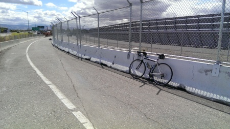 A new perimeter fence at the north end of the San Jose Airport is in place.