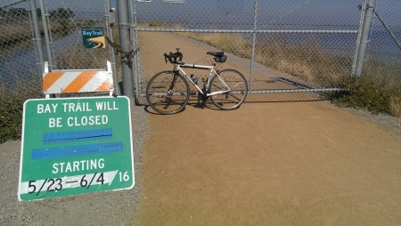 Bay Trail between Sunnyvale and Mountain View has a new surface, thanks to Google.