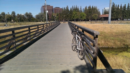 Freedom Bridge spanning San Tomas Aquino Creek is on notice for removal.