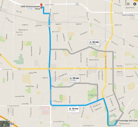 Google Maps recommends bike routes, but they're not the best.